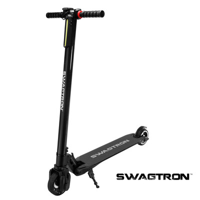 SWAGTRON Swagger-1 Collapsible Electric Scooter, Black, English (90088-2 BLACK)