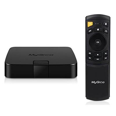 MyGica ATV 495 PRO Quad Core Android TV Box and Premium Streaming Media Player [ ATV 495 PRO - 2GB/16GB/4K/AC Wireless/ KR-41 Remote Control ] (190314000138)