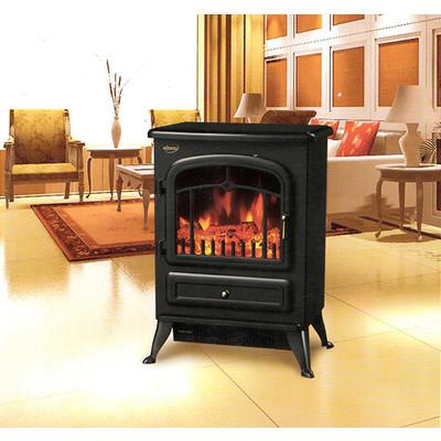 HOMCOM Free Standing 1500W Electric Fireplace Portable Firebox Adjustable, Black