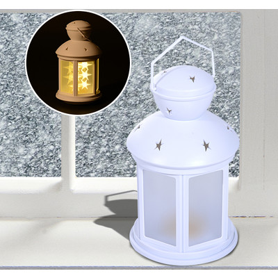 HOMCOM Portable Camping Lantern Outdoor Hanging Holder 12 LED Light Night Lamp