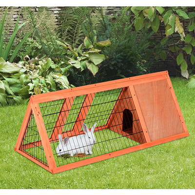 "PawHut Deluxe 47"" Pet Rabbit Hutch Bunny Large Cage House Wooden Animal Habitat"