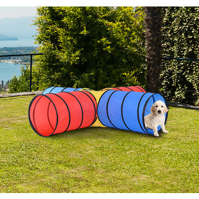PawHut New Cat Kitten Tunnel Pet Products 4 Way Play Toy