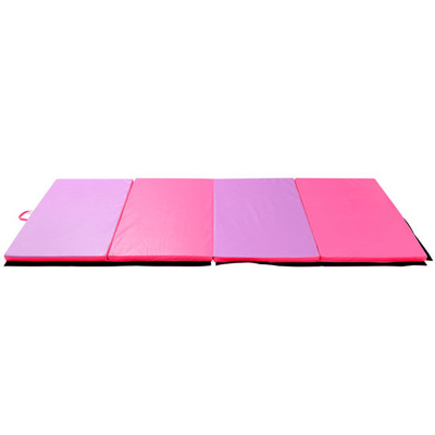 Soozier 4-Panel Folding Exercise Gym Mats Gymnastics Yoga Tumbling Home Foam, 4'×10'×2""