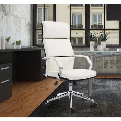 HOMCOM High-Back Computer Desk Chair Office Executive Chair PU Leather Ergonomic