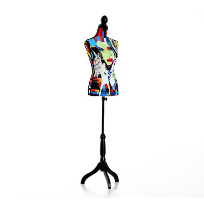 HOMCOM Female Dress Form Mannequin Torso Height Adjustable Clothes Display Base