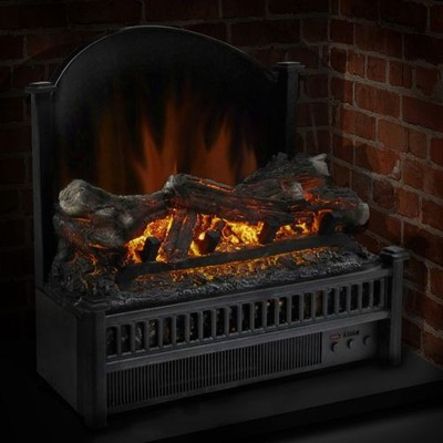 Pleasant Hearth - Electric Log Insert with Heater & Fireback