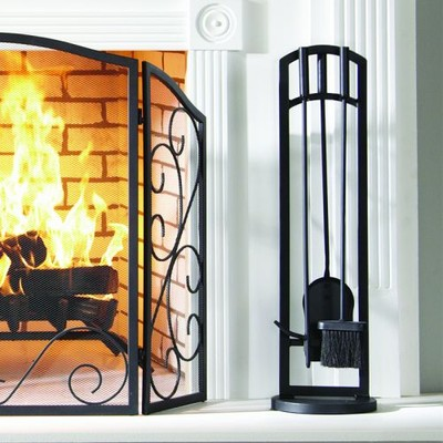 Pleasant Hearth - Arched 4 PC Fireplace Toolset