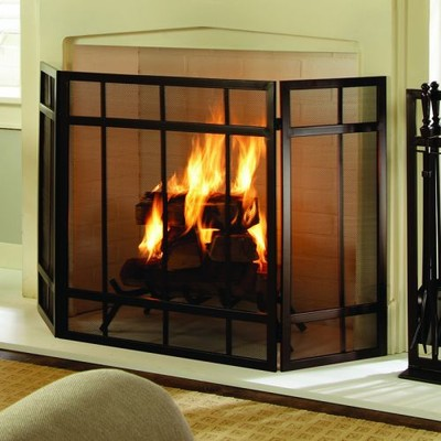Pleasant Hearth - Mission Style Fireplace Screen