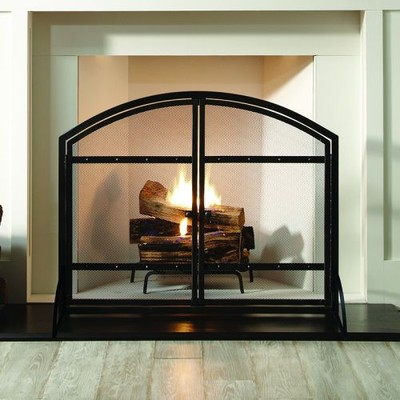Pleasant Hearth - Harper Fireplace Screen with Doors