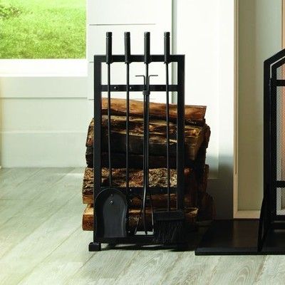 Pleasant Hearth - Harper Log Holder with Toolset