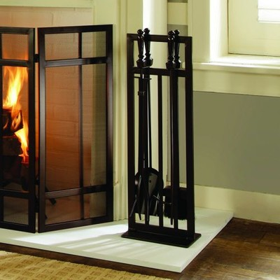 Pleasant Hearth - Mission Style 5 PC Fireplace Toolset