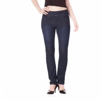 Bluberry women's Colette  Premium Indigo Dark Rinse Washing & Hand Sanding slim leg denim