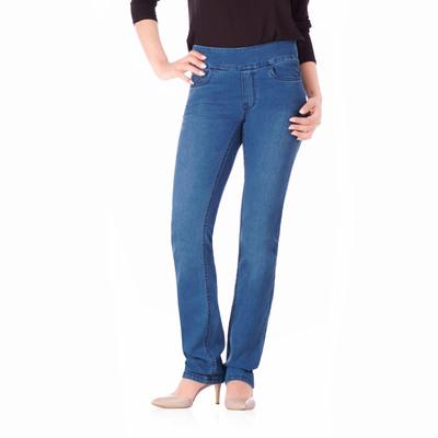 Bluberry women's Harper premium medium blue wash straight leg denim