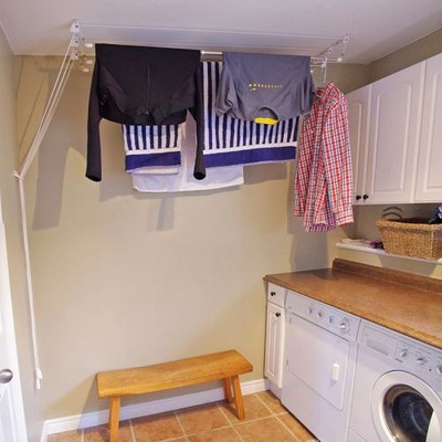 Greenway Laundry Lift 3-Bar Ceiling-Mounted Clothes Dryer