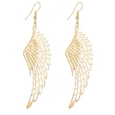 GOLD ANGEL WING FILIGREE EARRINGS