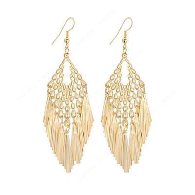 GOLD PEACOCK FILIGREE EARRINGS