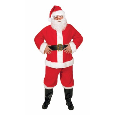 Santa Claus - Santa Suit - Hat, Beard, Jacket, Pants, Boot Cover and Belt - One size fits most