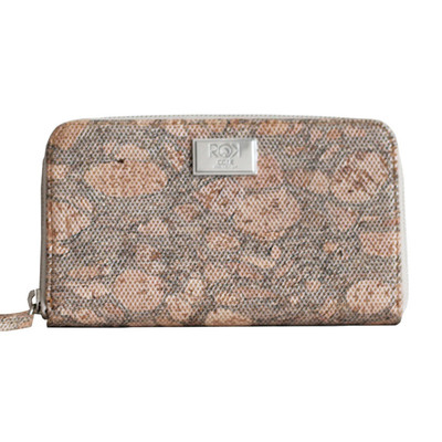 CORK MULTI-USE ZIP AROUND  LADIES WALLET VEGAN MESH