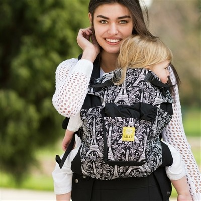 Lillebaby Complete 6-in-1 Baby Carrier – Original (Black w/ Eiffel Tower)