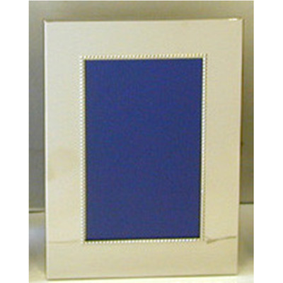 "Nickel Plated Bead Photo Frame 4 x 6"""