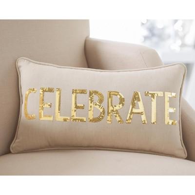"Mud Pie Set of 2 ""Celebrate"" Pillows"