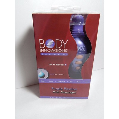 Body Innovations Sensual Waterproof Battery Operated Vibrating Mini Massager - Purple Passion