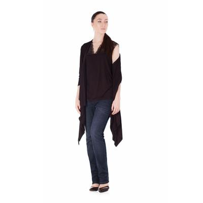 Bluberry Women's Kimono Black top