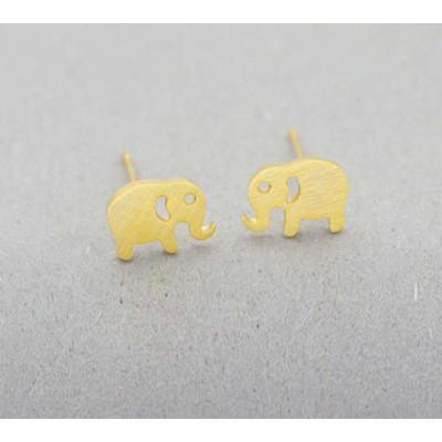 Gold Elephant Earrings SALE