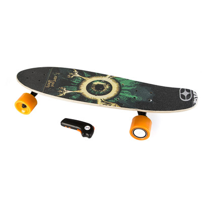 Electric Skateboard IMDeck (Zod)  - with amazing graphics, next gen motorized wheel with wireless remote and rechargeable battery