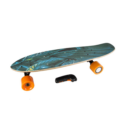 Electric Skateboard IMDeck (Imperial Dragon)  - with amazing graphics, next gen motorized wheel with wireless remote and rechargeable battery