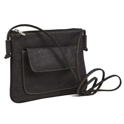 Cork Handbag small Vegan Gift PETA Approved Black Cross-Shoulder Designed in Canada
