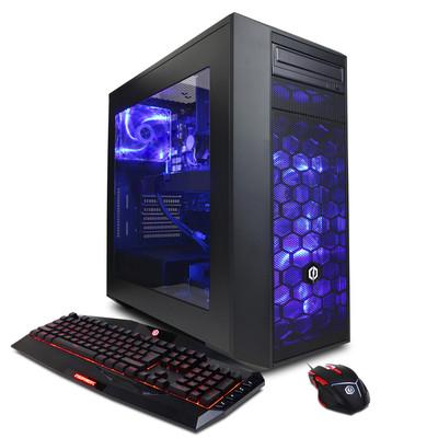 CYBERPOWERPC Gamer Master GMA320 Gaming Computer, AMD Ryzen 7 1700X, 3.4GHz, 16GB RAM, 2TB HDD, English