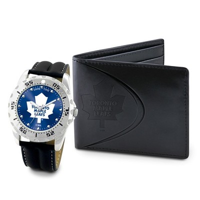 Mens NHL Toronto Maple Leafs Watch And Wallet Set