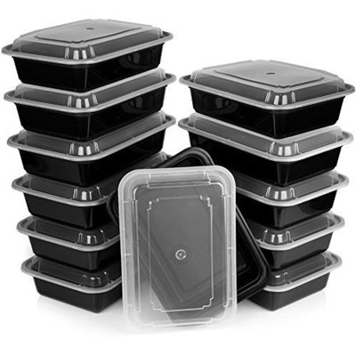 Premium Meal Prep Food Containers with Lids - 12 Pack