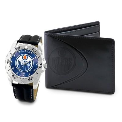 Mens NHL Edmonton Oilers Watch And Wallet Set