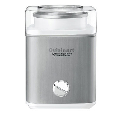 Cuisinart-Refurbished Pure Indulgence Frozen Yogurt, Ice Cream and Sorbet Maker, White, Manufacturer Recertified, English (ICE-30WB)