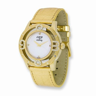 MOOG FASHIONISTA 0309 MOTHER OF PEARL DIAL/GOLD STRAP WATCH