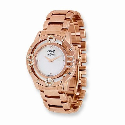 MOOG FASHIONISTA 0309 MOTHER OF PEARL DIAL/ROSE IP-PLATED WATCH