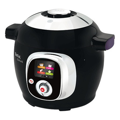 T-fal Refurbished COOK4ME Intelligent Multicooker, Black, English (CY7018CA)