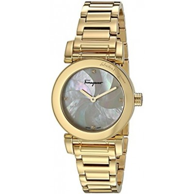 Salvatore Ferragamo Women's 'LADY' Quartz Stainless Steel Casual Watch, Color:Gold-Toned (Model: FP1730016)