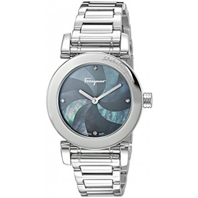 Salvatore Ferragamo Women's 'LADY' Quartz Stainless Steel Casual Watch, Color:Silver-Toned (Model: FP1750016)