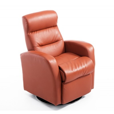 Qaba Adjustable Deluxe Kids Faux Leather Sofa Recliner Padded Armchair Brown