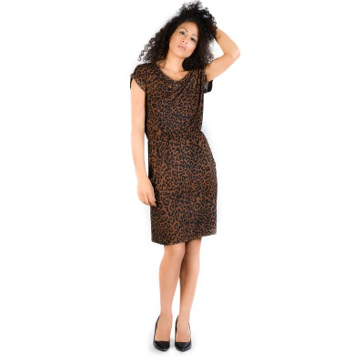 Bluberry Women's Adelia Brown print Dress