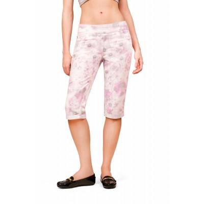 Bluberry Women's Carley Pink Floral Bermuda Pant