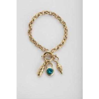 "Anya ""Turquoise"" bracelet in gold"