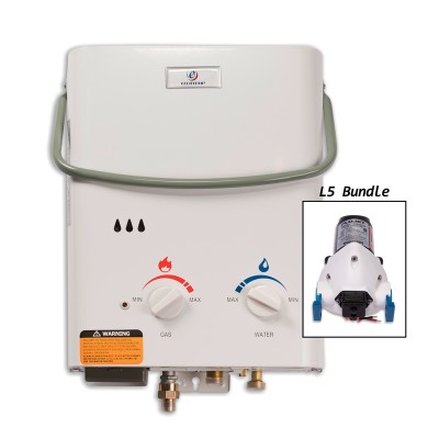 Eccotemp L5 Portable Outdoor Tankless Water Heater & Flojet Pump