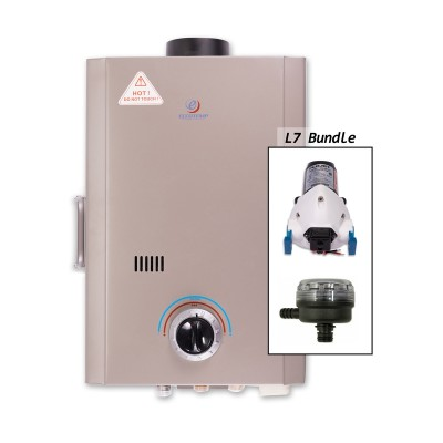 Eccotemp L7 Portable Outdoor Tankless Water Heater w/ Flojet Pump & Strainer