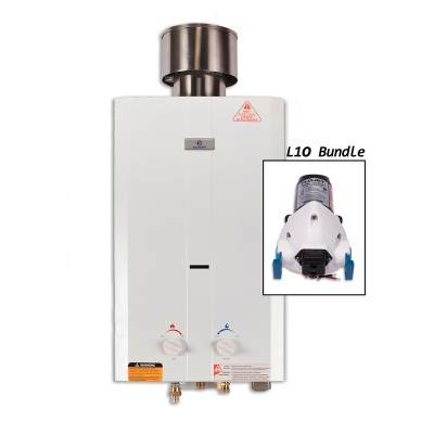 Eccotemp L10 Portable Outdoor Tankless Water Heater with Flojet Pump