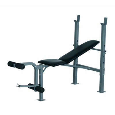 Soozier Incline Decline Adjustable Fitness Exercise Olympic Weight Lifting Bench with Leg Extension