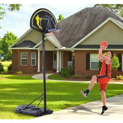 Soozier 6.5'-10' Adjustable Portable Youth Kids Basketball Hoop System Stand Outdoor